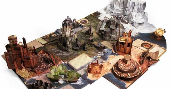美國原裝進口《冰與火之歌》立體書Game of Thrones: A Pop-up Guide to Westeros
