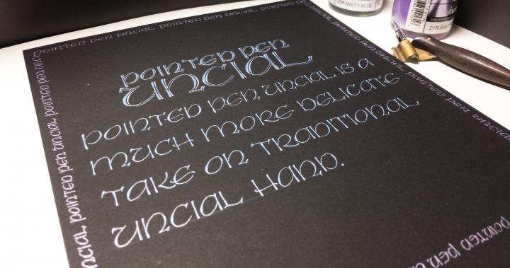 Pointed Pen Uncial Workshop @賈絲、筆咧 4月週日下午班